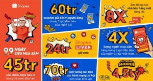 Shopee bán hơn 45 triệu sản phẩm trong 99 phút đầu sự kiện 9.9