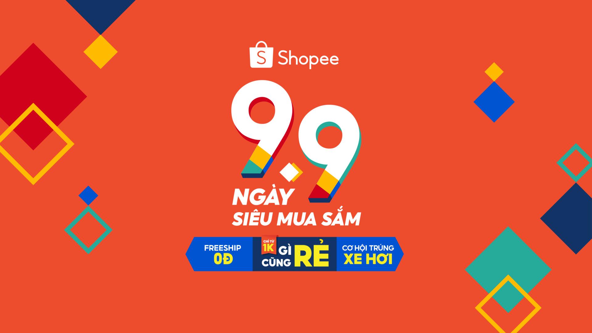 Shopee tổ chức sự kiện 9.9 Ngày Siêu Mua Sắm