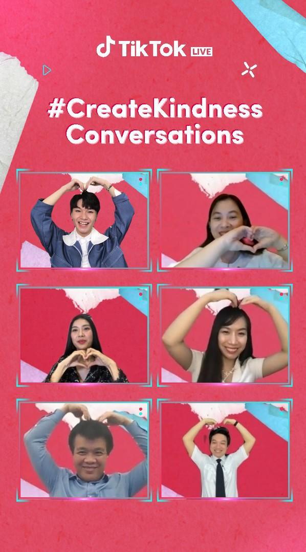 TikTok tổ chức trực tuyến chương trình #CreateKindness Conversations