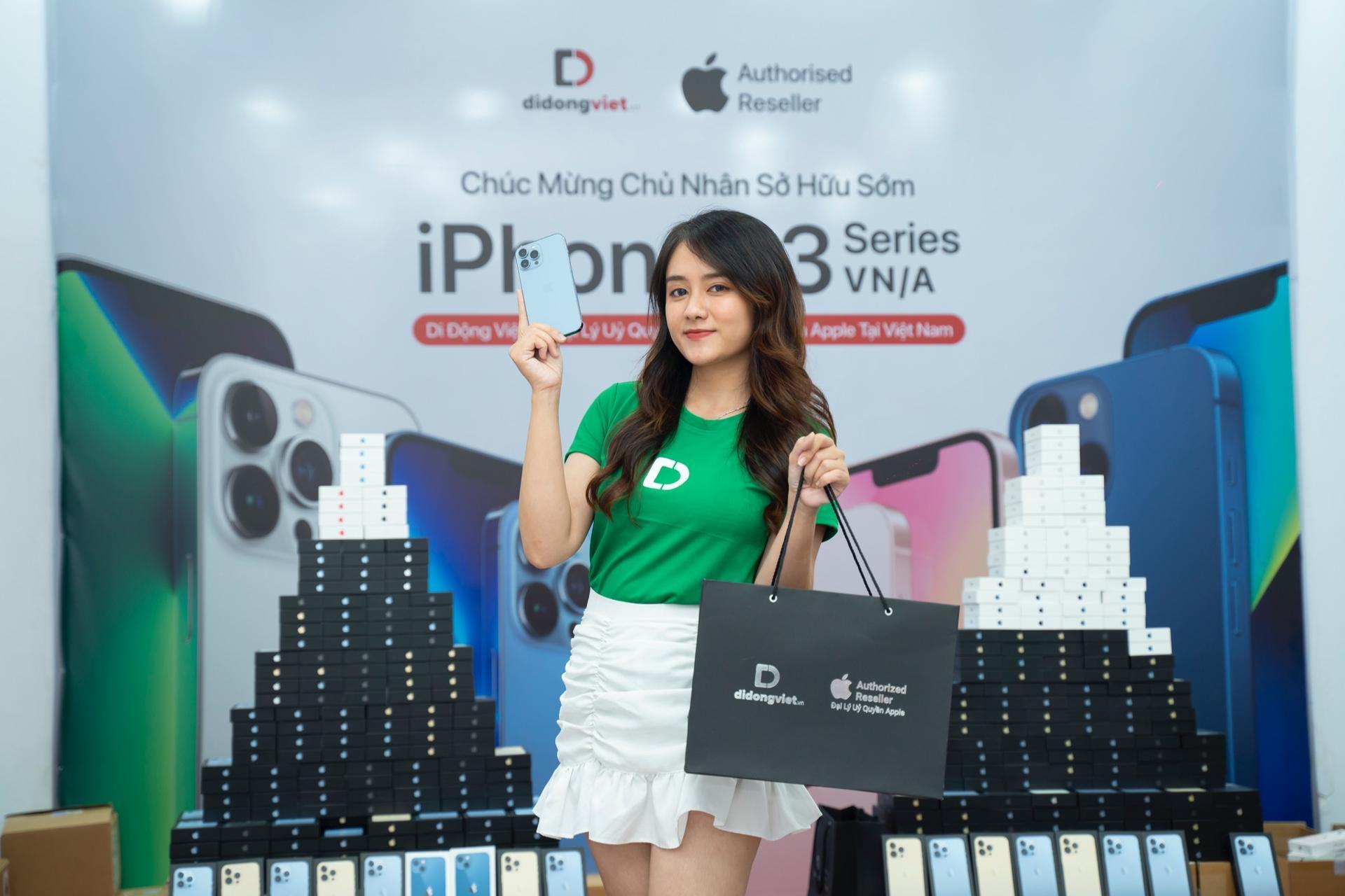Di Động Việt đã chuẩn bị iPhone 13 series VN/A cho đêm mở bán 22.10